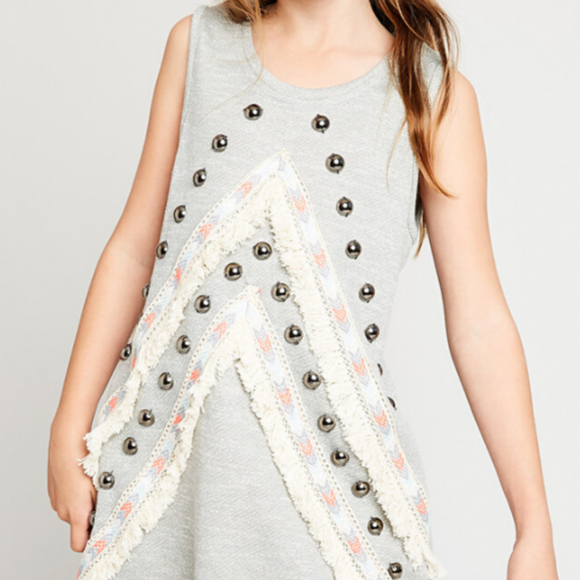 Boutique Embellished Tunic - Big Girls
