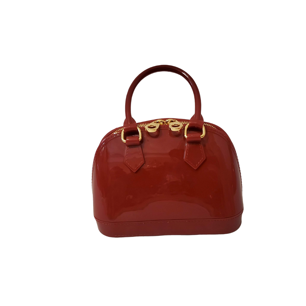 Red Velvet Jelly Satchel Tote