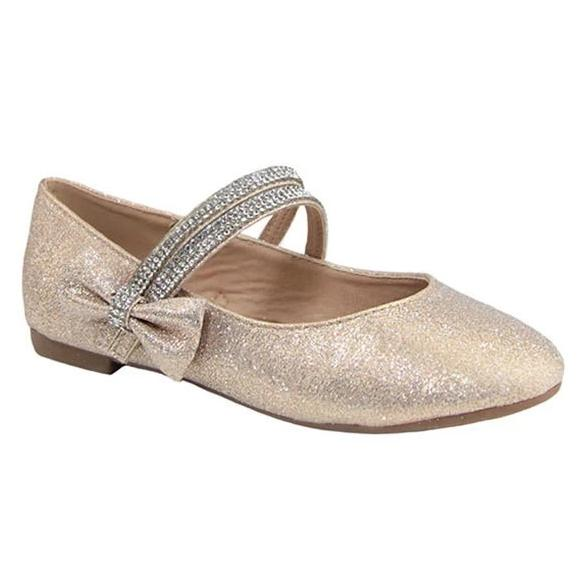 Special Occasion Dress Shoe - Little Kids - Silver or Gold Sparkle