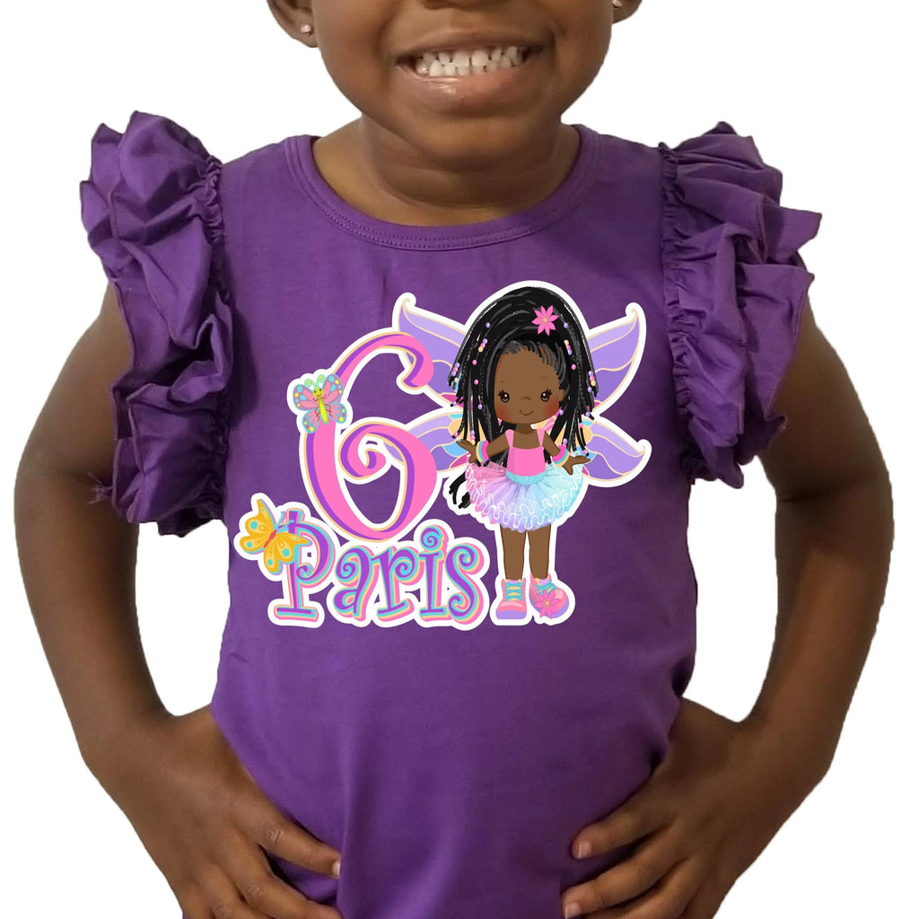 Girls Fun Character Birthday Tees, Fully customizable