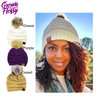 Mommy CC Beanie with Fur Pom-Pom