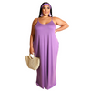 Shantel - Comfy Maxi Dress with Pockets L-3XL