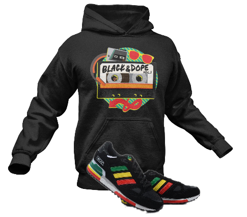 Black and Dope Hooded Unisex Sweatshirt 8 Colors, Sizes S - 2XL