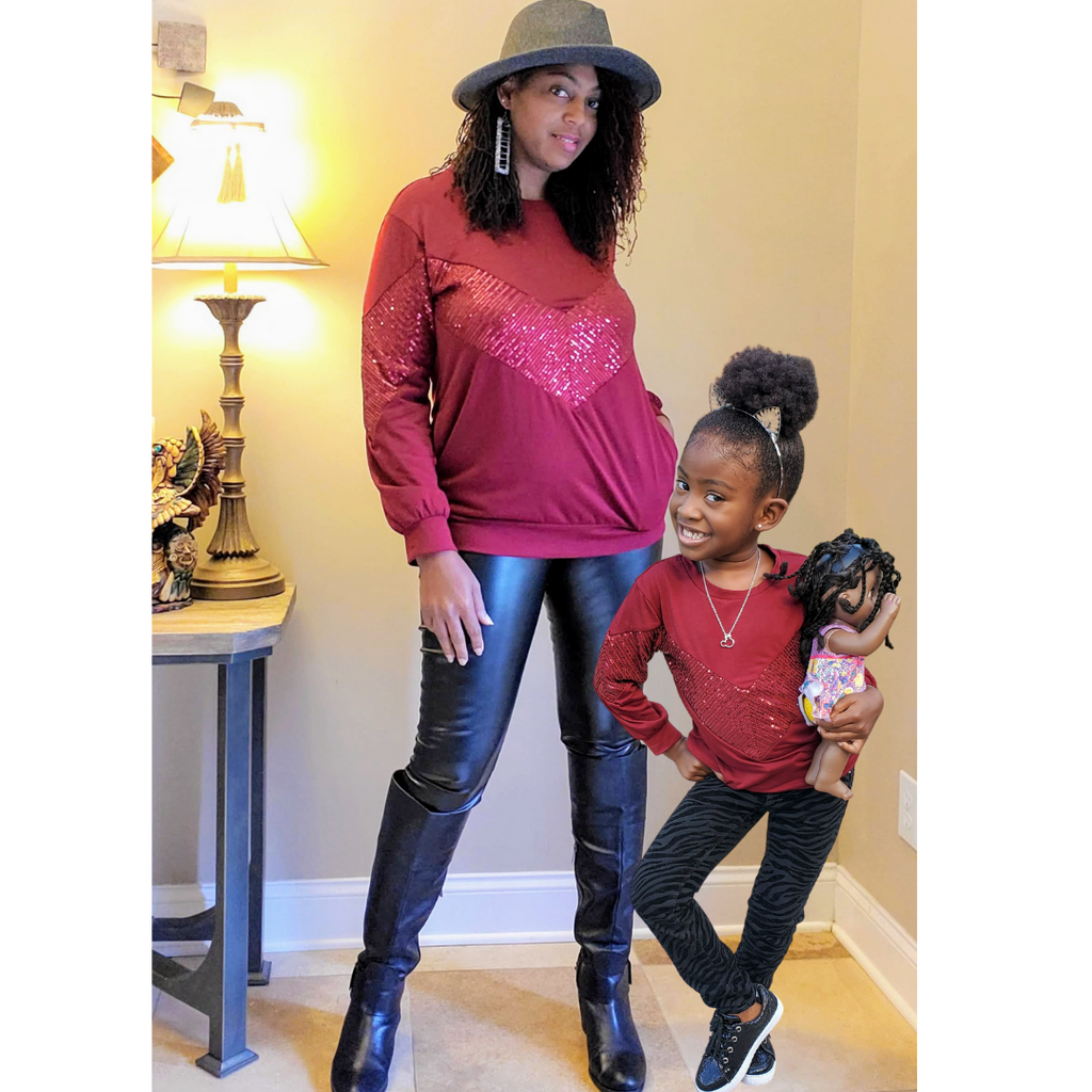 Mommy & Me Holiday Sequin Top