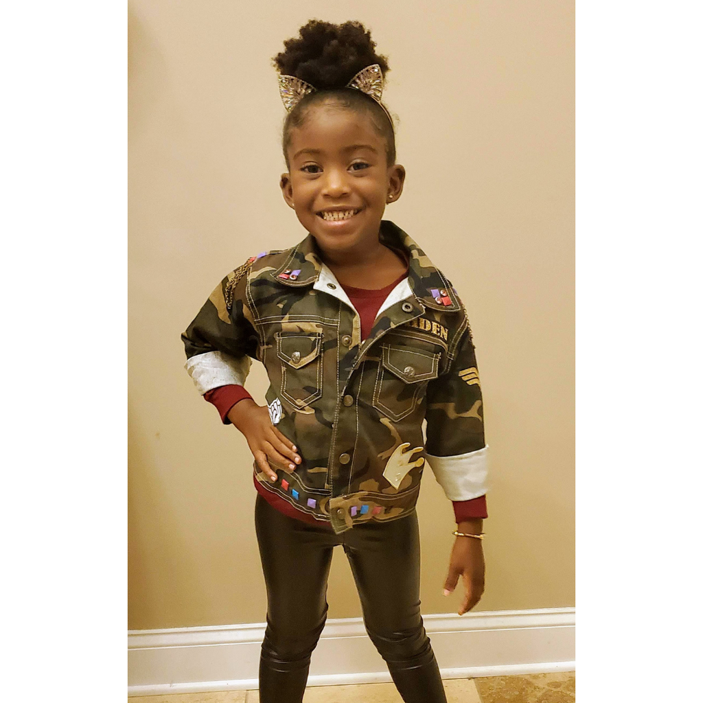 Custom Camo Toddler Jacket - Sizes 2, 4, or 6