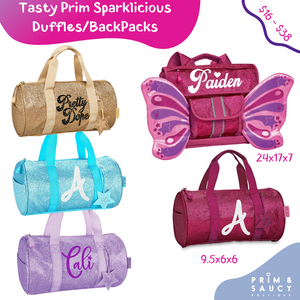 Tasty Prim Mini Duffles - 4 Sparkalicious Colors
