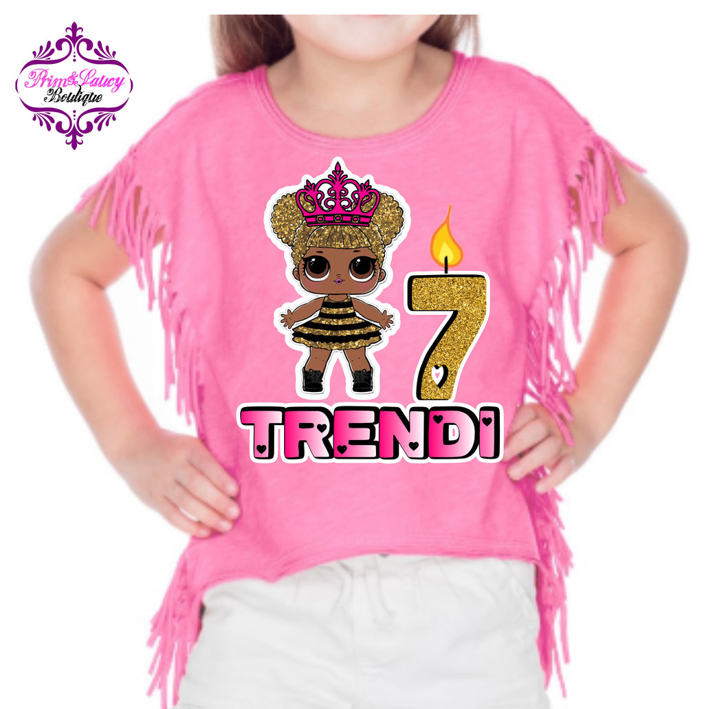 LOL Doll Mermaid Splash Queen Fringe Semi-Crop Top