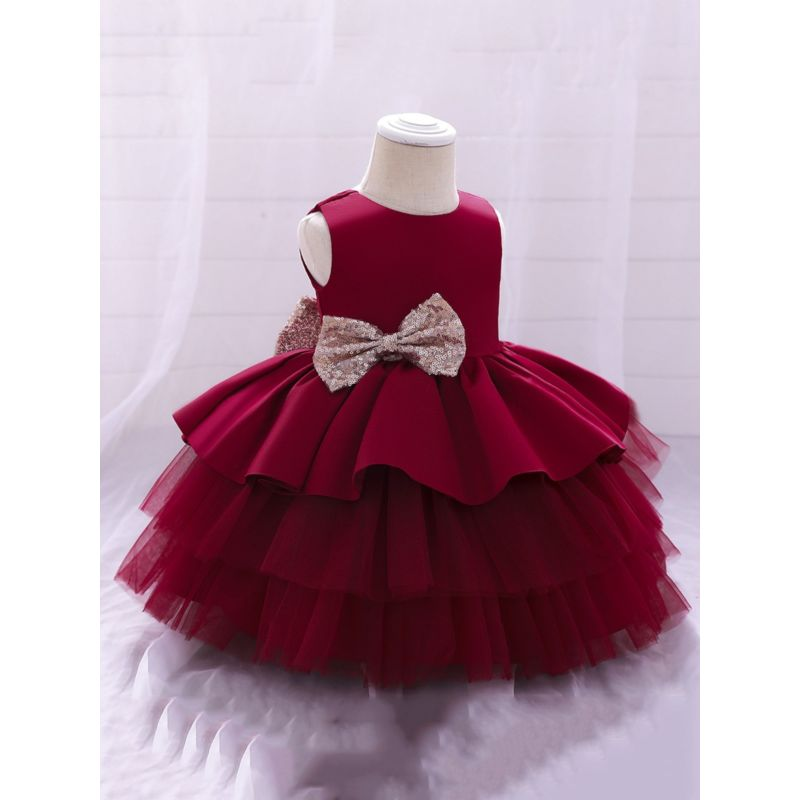 Girls Holiday Dresses - Ruby Red and Emerald Green