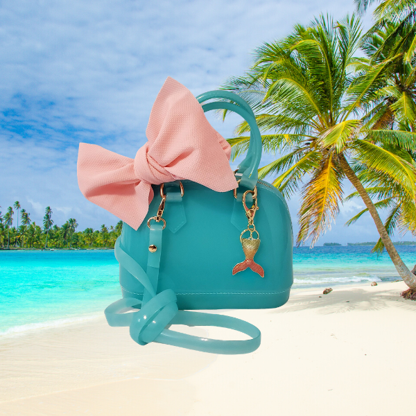 Tropical Island Breeze Jelly Satchel Tote