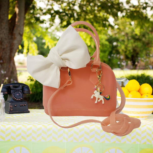 Pink Lemonade Jelly Satchel Tote