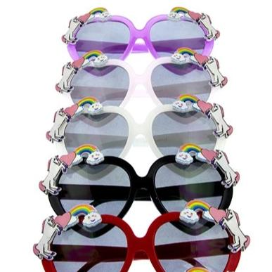 Heart Shaped Unicorn Sunglasses