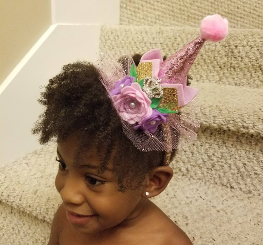Happy Birthday Princess Crown (Birthday Party Hat) Headband