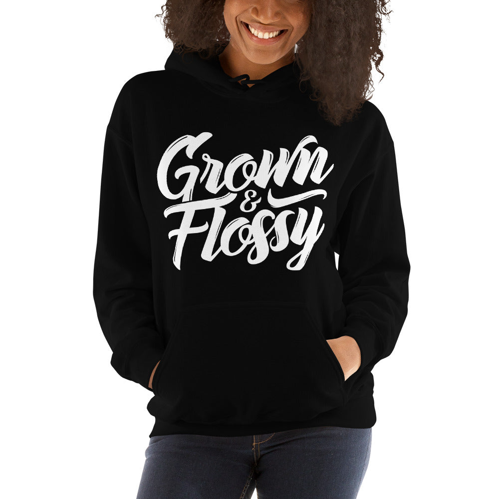 Grown and Flossy Ladies Hooded Sweatshirt
