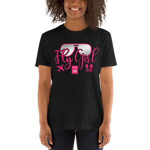 Fly Girl Travel Short-Sleeve Unisex T-Shirt