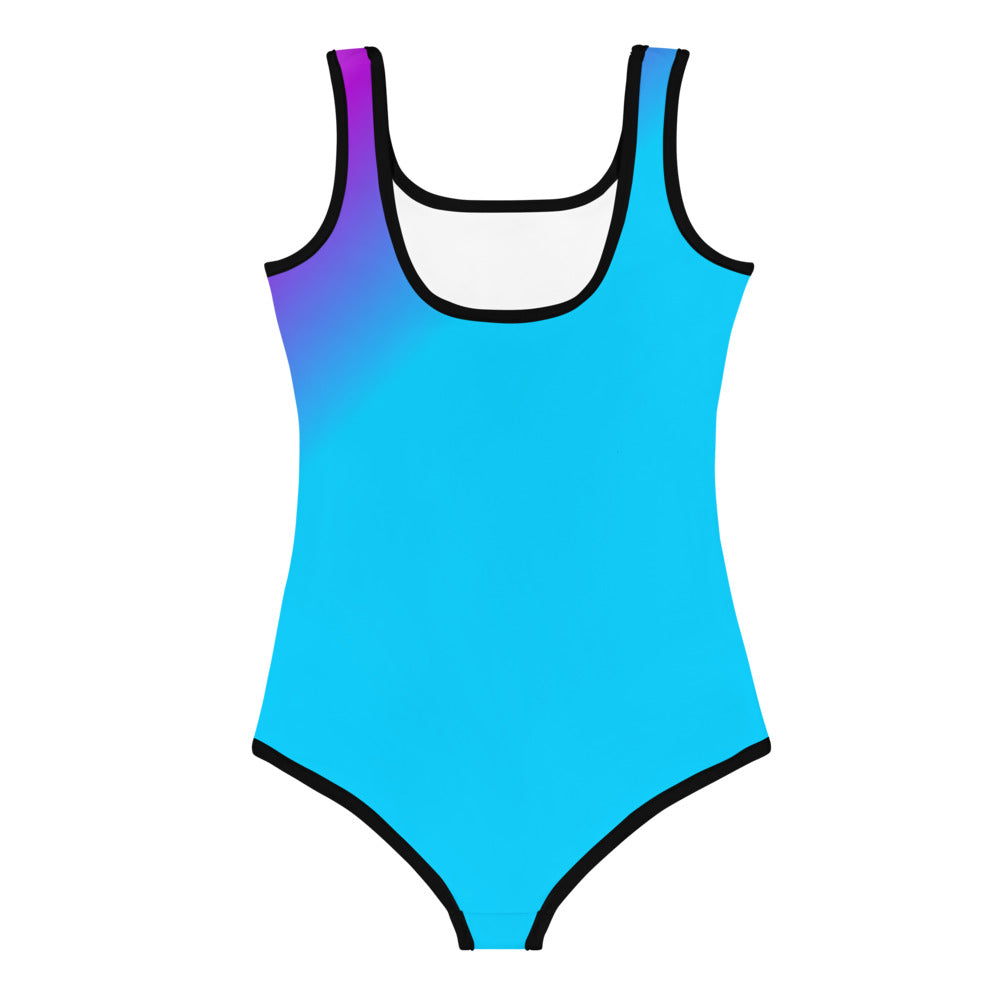 Pretty Dope Girls Swimsuit or Bodysuit All-Over Print Kids Swimsuit Size 2 - 7, Girls Colorful Dope Swimsuit