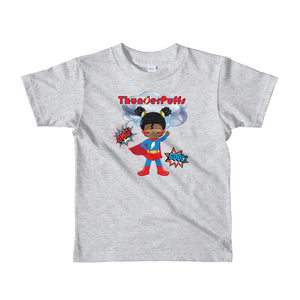 ThunderPuffs SuperGirl, Afro Puffs Toddler Girl Tshirt