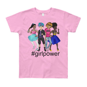Girl Power, Girl Gang, Femme, Squad Goals, Youth Short Sleeve T-Shirt, Ages 8-12
