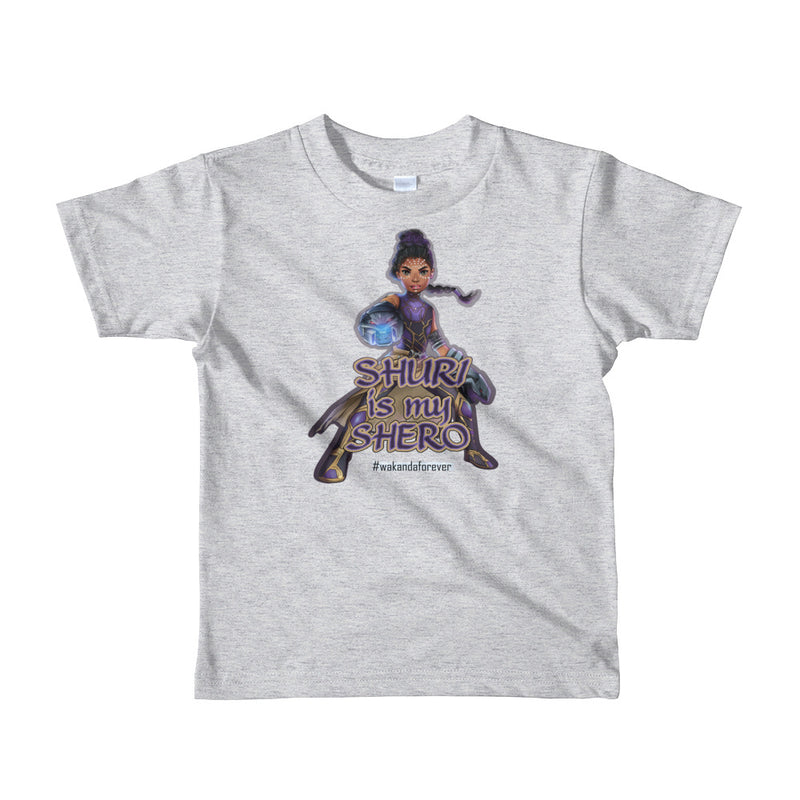 Shuri-Black Panther Toddler Tshirt (White, Black, Gray, Purple) Sizes 2-6
