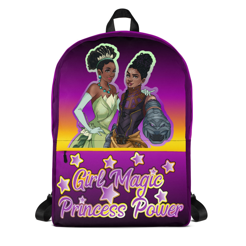 Girl Magic Princess Power Backpack, Tiana and Shuri