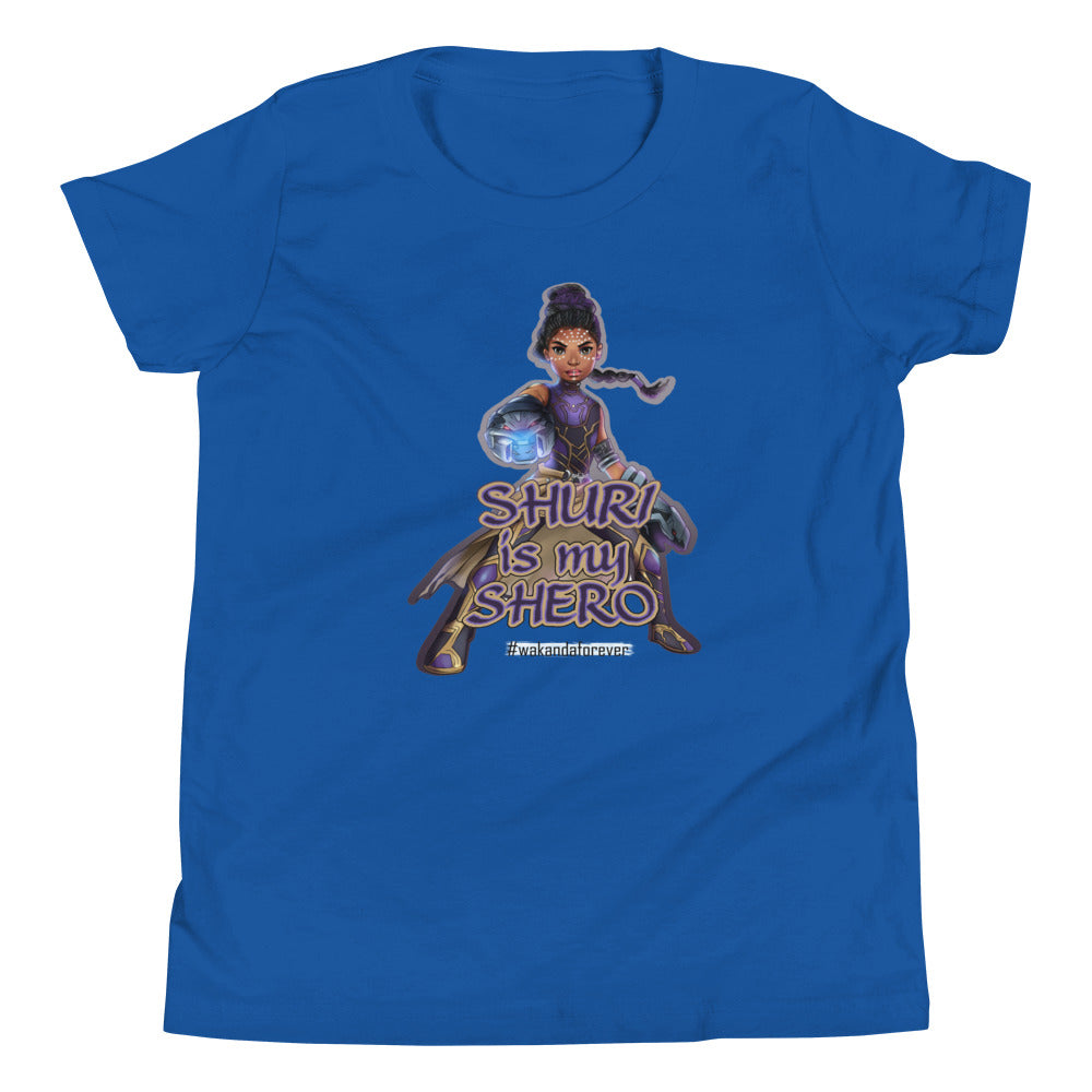 Shuri-Black Panther Young Girl's Tshirt (White, Black, Raspberry, Royal Blue) Sizes XS - XL