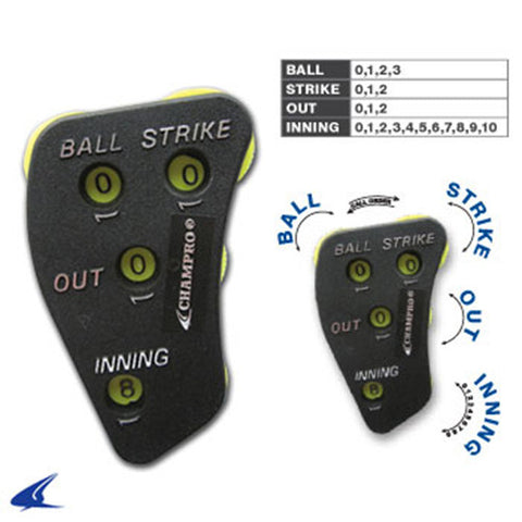 4-WAY PLASTIC UMPIRE INDICATOR, BALL, STRIKE, OUT INNING
