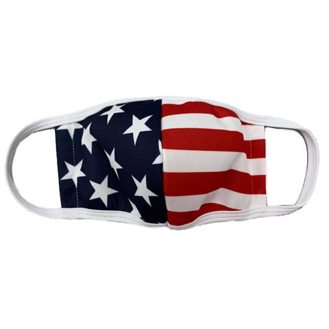 SMITTY USA REUSABLE FLAG CLOTH FACE MASK