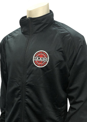 IAABO SOLID BLACK FRONT ZIPPER JACKET