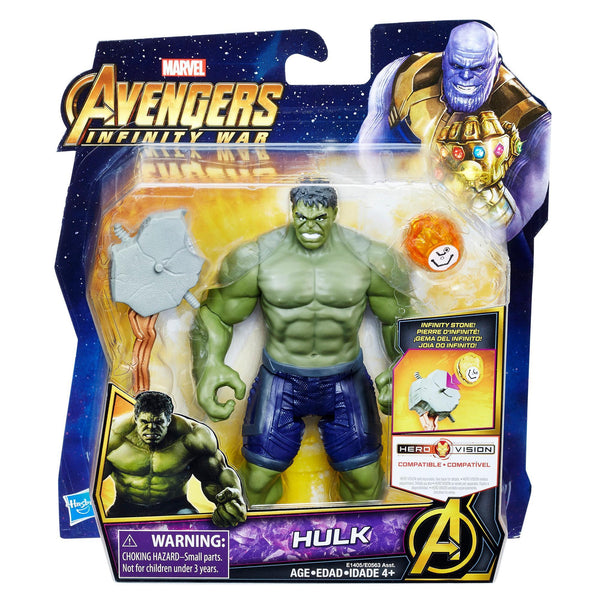 Marvel Avengers: Infinity War Deluxe Action Figure With Infinity Stone - Hulk