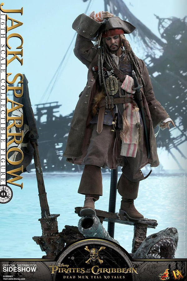 "Pirates Of The Caribbean 12"" Dead Men No Tales Jack Sparrow Hot Toys Figure"