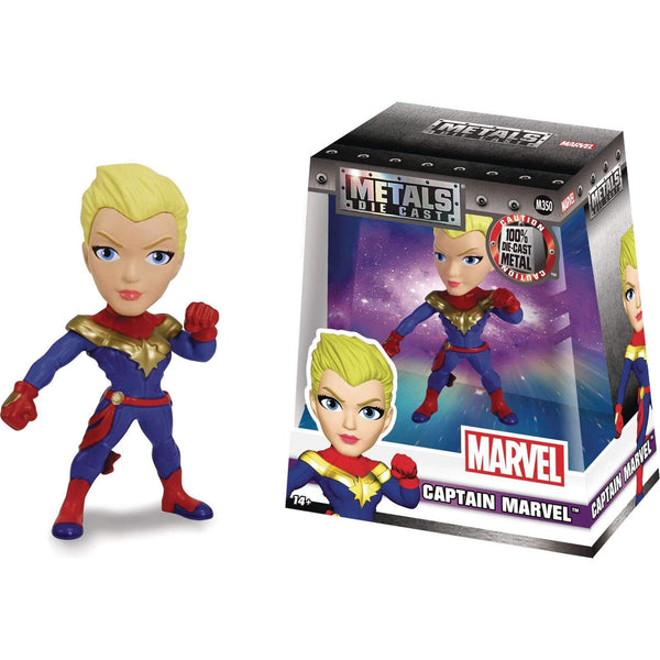 Marvel Girls 4 Inch Metals Die-Cast Figure - Captain Marvel - geektoysuk