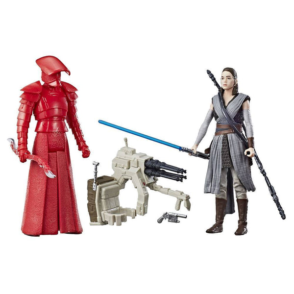 Star Wars Force Link Action Figures 10 cm 2-Pack Rey (Jedi Training) & Elite Praetorian guard