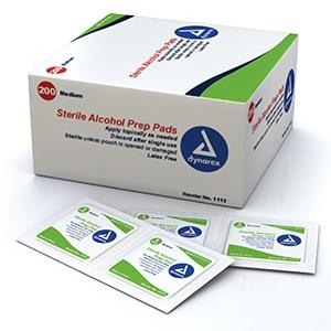 Alcohol Prep Pads; Medium (200/box) by Dynarex - MedStockUSA.com