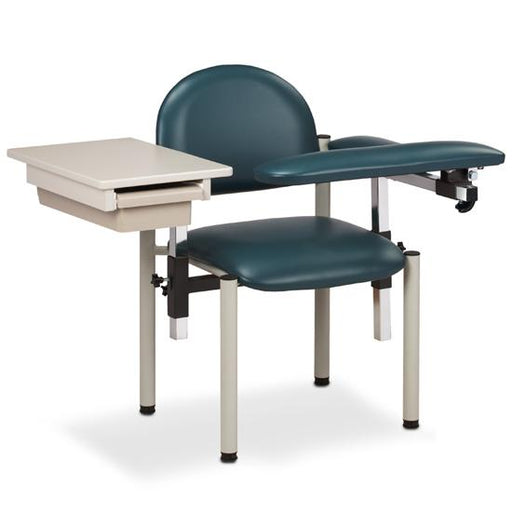 Padded Blood Drawing Chair w/Padded Flip Arm & Drawer (SC Series 6059-U) by Clinton Industries - MedStockUSA.com