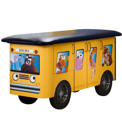 Zoo Bus & Jungle Friends Pediatric Treatment Table by Clinton Industries - MedStockUSA.com
