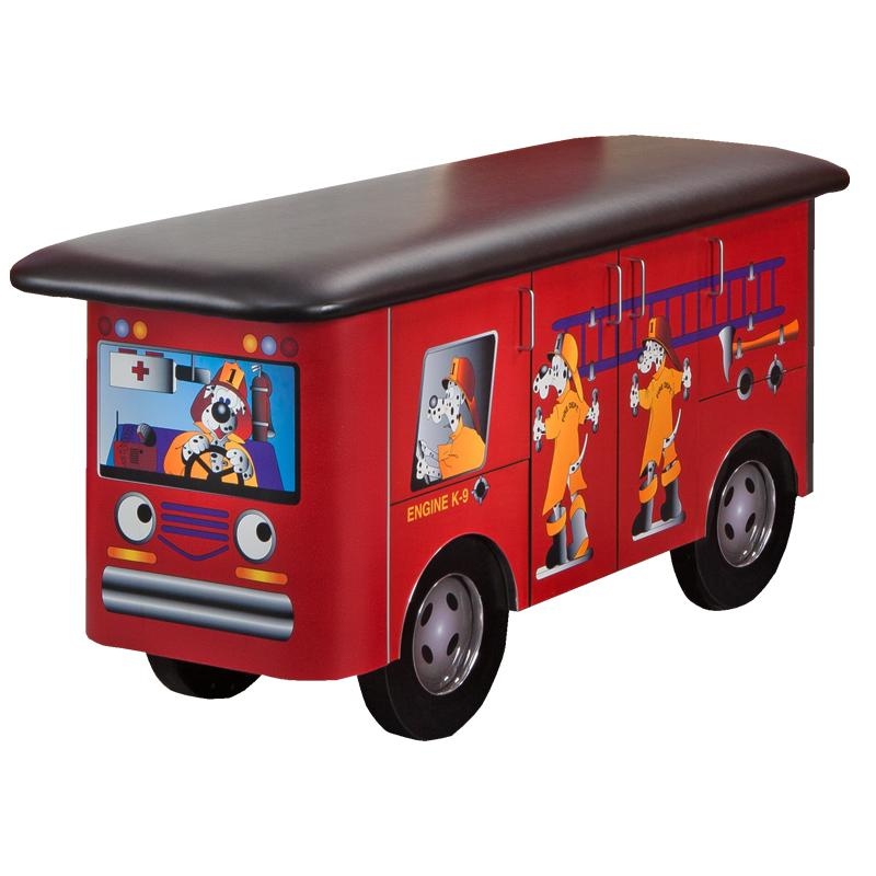Engine K9 with Dalmatian Firefighters Pediatric Treatment Table by Clinton Industries - MedStockUSA.com