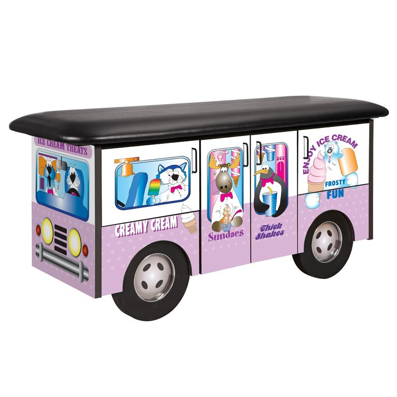 Frosty Friends Ice Cream Truck Pediatric Treatment Table by Clinton Industries - MedStockUSA.com