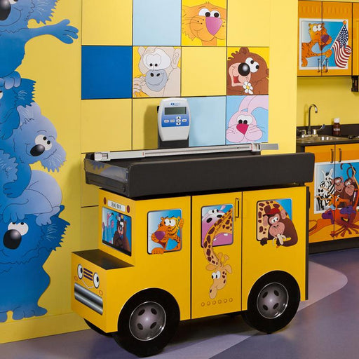 Pediatric Scale Table with Zoo Bus & Jungle Friends by Clinton Industries - MedStockUSA.com