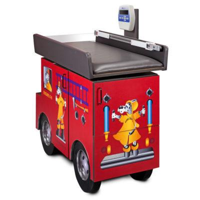 Pediatric Scale Table with Engine, K9 & Dalmatian Firefighters by Clinton Industries - MedStockUSA.com