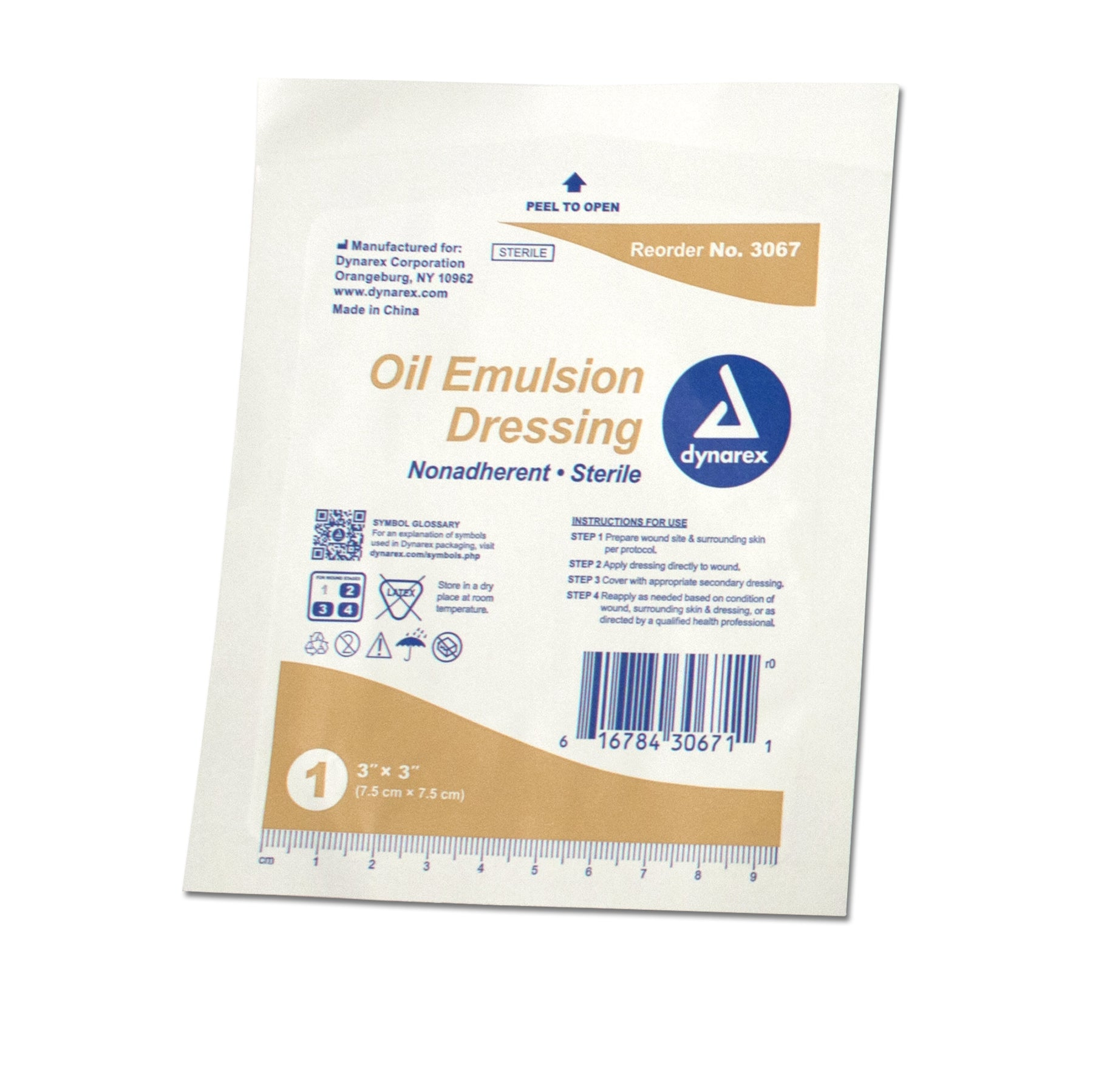 "Oil Emulsion Dressing 3"" x 3"" (50/bx) by Dynarex - MedStockUSA.com"