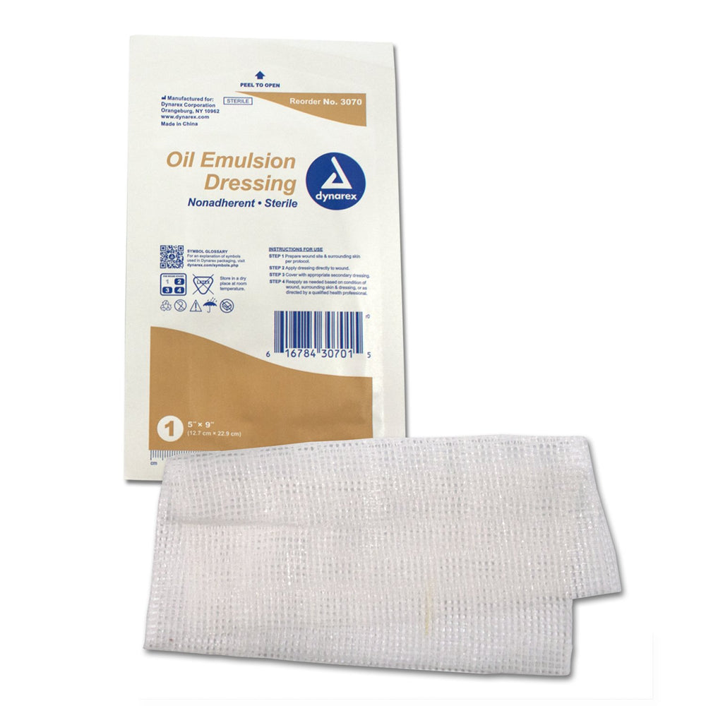 "Oil Emulsion Dressing - 5"" x 9"" (12/bx) by Dynarex - MedStockUSA.com"