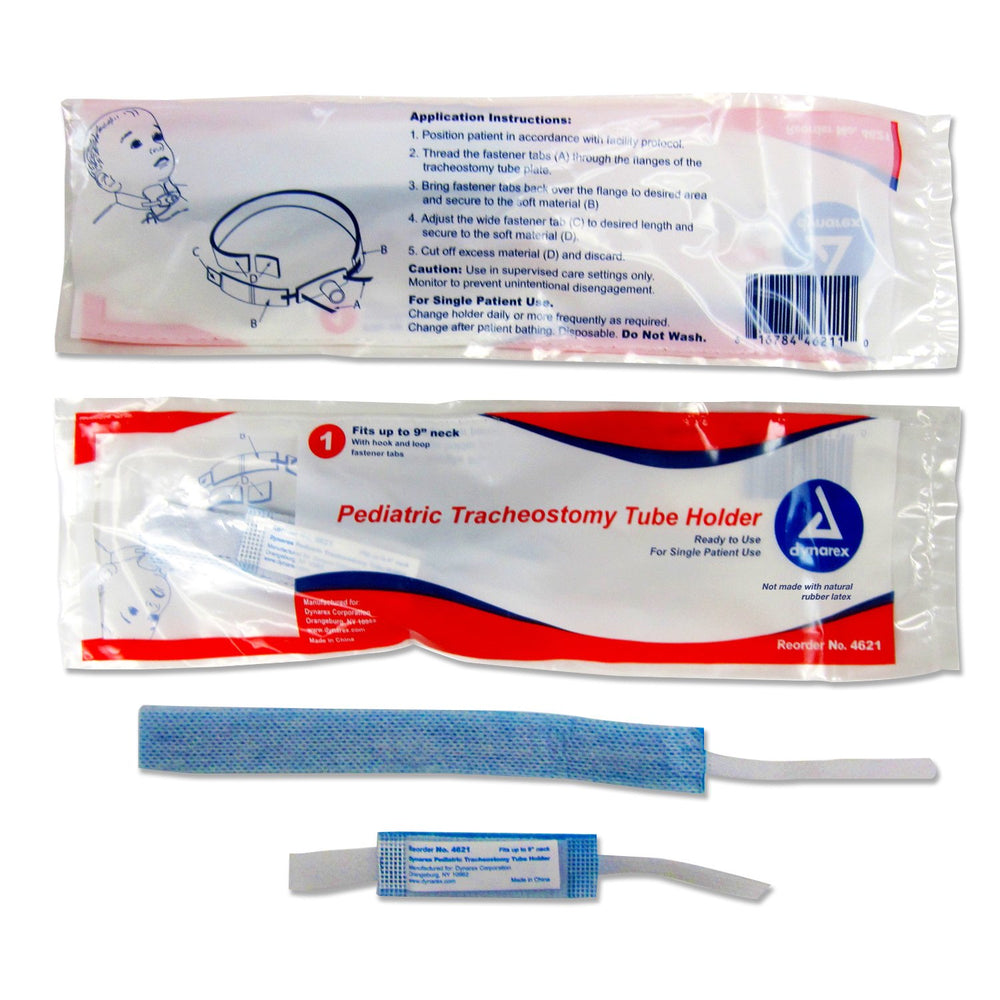 "Tracheostomy Pediatric Tube Holder: (9"" length) (10/Box) by Dynarex - MedStockUSA.com"