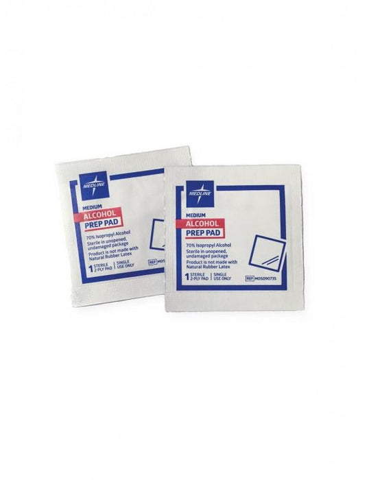 Alcohol Prep Pads 70%; Medium (200/box) by Medline - MedStockUSA.com