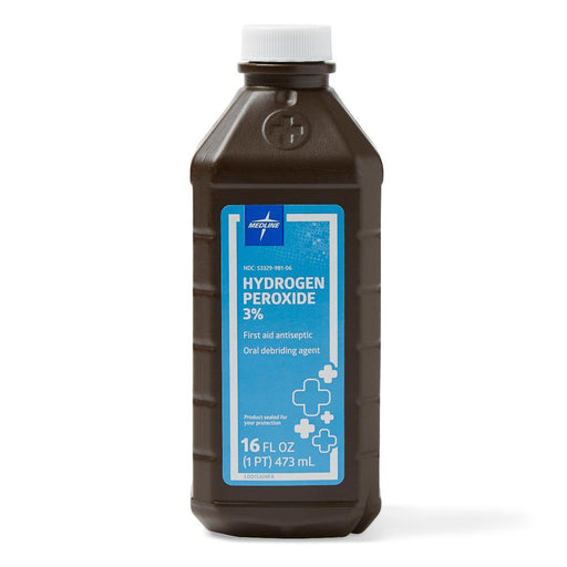 Hydrogen Peroxide 3% (16fl oz) by Medline - MedStockUSA.com