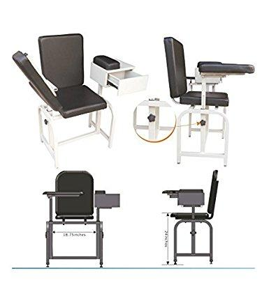 Blood Drawing Phlebotomy Chair w/Drawer by MedStock - MedStockUSA.com