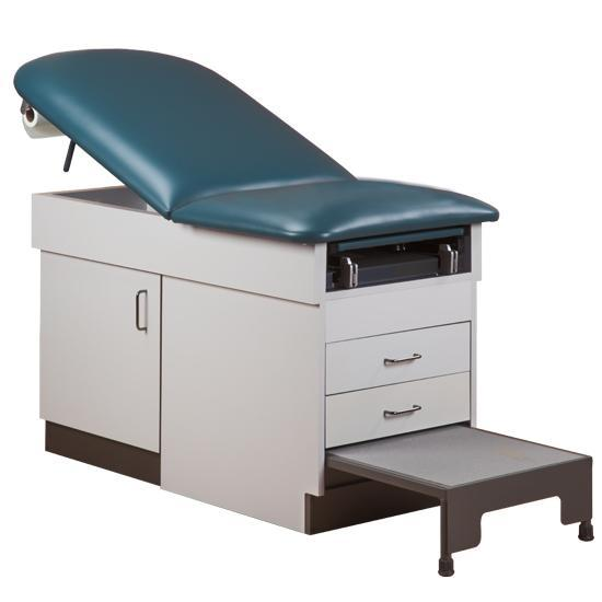 Clinton 8890 Family Practice Examination Table w/Built In Step Stool by Clinton Industries - MedStockUSA.com