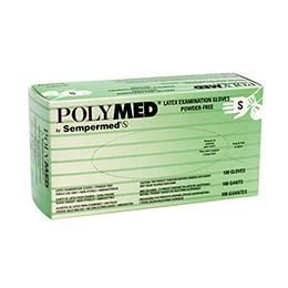 Latex Examination Gloves (100/box) - Small by PolyMed by Sempermed - MedStockUSA.com