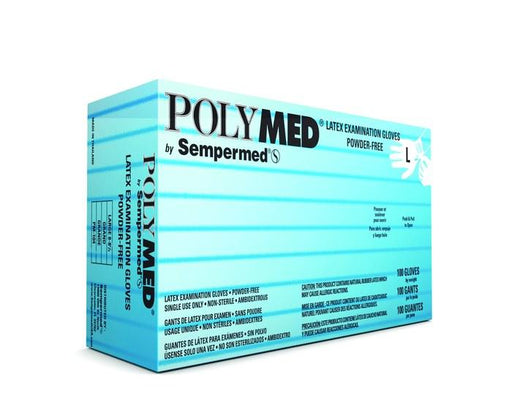 Latex Examination Gloves (100/box) - Large by PolyMed by Sempermed - MedStockUSA.com