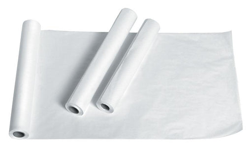 "Standard Exam Table Paper; Smooth/White 21""x225' (12/cs) by Medline - MedStockUSA.com"