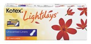 Kotex Pantiliner Lightdays - Unscented (22/pk) by Kimberly Clark - MedStockUSA.com