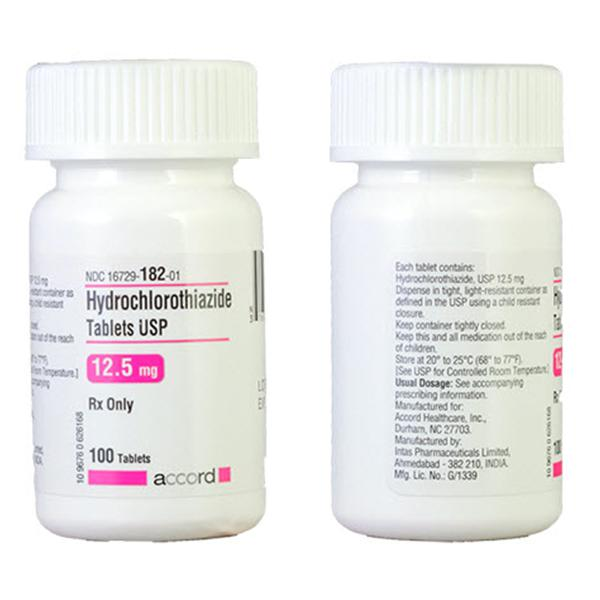 Hydrochlorothiazide Tablets 25mg (100/Bottle) by Accord Healthcare Inc - MedStockUSA.com